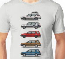 Stack Of Toyota Tercel Sr5 4wd Al25 Wagons Unisex T-Shirt
