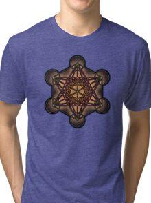 Metatron's Cube ~ Sacred Geometry Tri-blend T-Shirt
