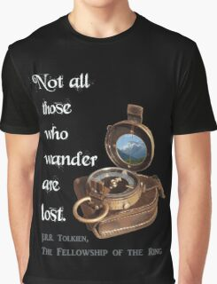 Not all Those who Wander are Lost, Tolkien, LOTR (plain background) Graphic T-Shirt