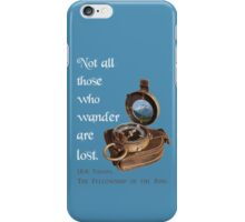 Not all Those who Wander are Lost, Tolkien, LOTR (plain background) iPhone Case/Skin