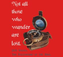 Not all Those who Wander are Lost, Tolkien, LOTR (plain background) One Piece - Short Sleeve