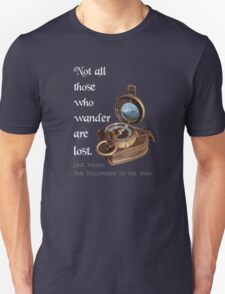 Not all Those who Wander are Lost, Tolkien, LOTR (plain background) Unisex T-Shirt