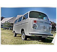 White bay window Volkswagen Kombi at Volksfest 2015 Poster