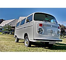 White bay window Volkswagen Kombi at Volksfest 2015 Photographic Print