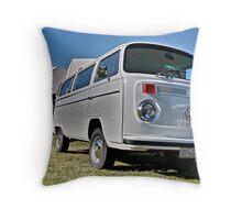 White bay window Volkswagen Kombi at Volksfest 2015 Throw Pillow