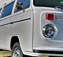 White bay window Volkswagen Kombi at Volksfest 2015 Sticker
