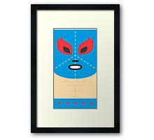 Mexican Luchador Square Friends Framed Print