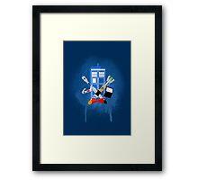 DOCTOR WHO - SPRAY PAINT DESIGN Framed Print