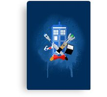 DOCTOR WHO - SPRAY PAINT DESIGN Canvas Print