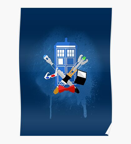DOCTOR WHO - SPRAY PAINT DESIGN Poster