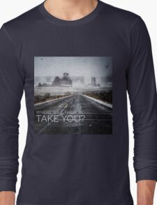 Where will the road take you?  Courthouse Wash, Arches Long Sleeve T-Shirt