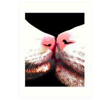 Whisker Rub Art Print