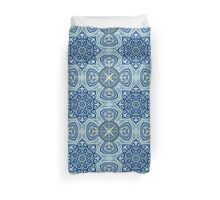 Blue and Gold  flowers pattern Duvet Cover