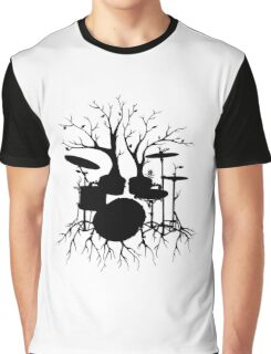 """""""Live the Beat to the Tempo of Creation"""" ~ drum tree art, version2 Graphic T-Shirt"""