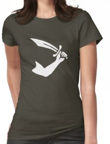Thomas Tew Pirate Flag Womens Fitted T-Shirt