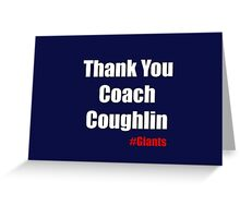 Thank You Coach Couglin Greeting Card