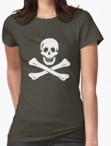 Edward England Pirate Flag Womens Fitted T-Shirt