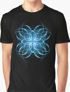Tribal Ice - Fractal Art Design Graphic T-Shirt