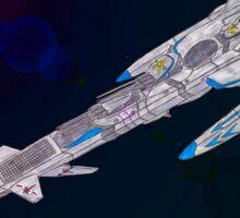 Star Command Battleship Alexandria Sticker