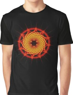 Merkaba Spiral Mandala Red   ( Fractal Geometry ) Graphic T-Shirt