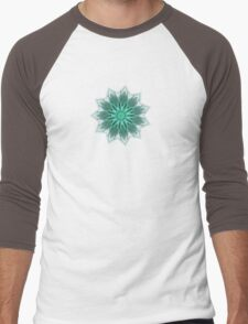Fractal Flower - Green . Men's Baseball ¾ T-Shirt