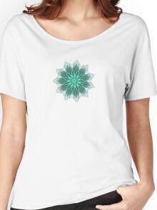 Fractal Flower - Green . Women's Relaxed Fit T-Shirt