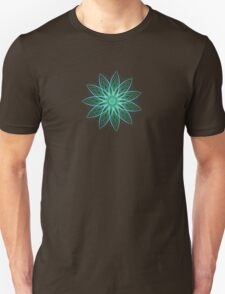 Fractal Flower - Green . Unisex T-Shirt