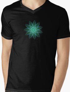 Fractal Flower - Green . Mens V-Neck T-Shirt