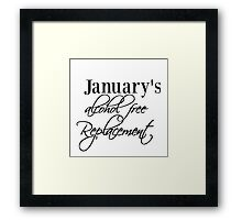 2016 Resolution Framed Print