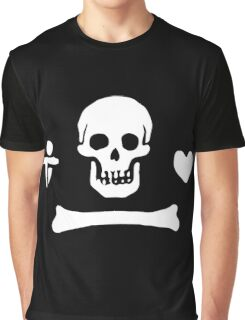 Stede Bonnet Pirate Flag Graphic T-Shirt