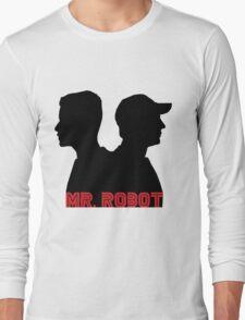 Mr. Robot silhouettes Long Sleeve T-Shirt