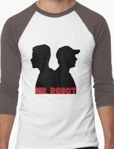 Mr. Robot silhouettes Men's Baseball ¾ T-Shirt