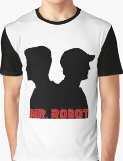 Mr. Robot silhouettes Graphic T-Shirt