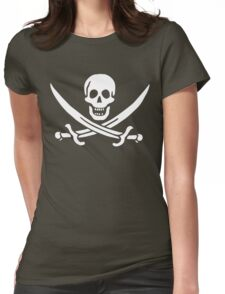 John Rackham Pirate Flag Womens Fitted T-Shirt