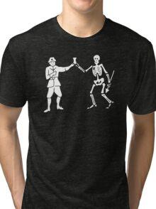 Black Bart Pirate Flag Tri-blend T-Shirt