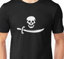 Black Bart Pirate Flag Unisex T-Shirt