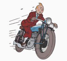 Tintin - Bike Kids Tee