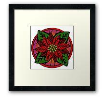 Poinsettia Flower Framed Print