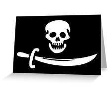 Black Bart Pirate Flag Greeting Card