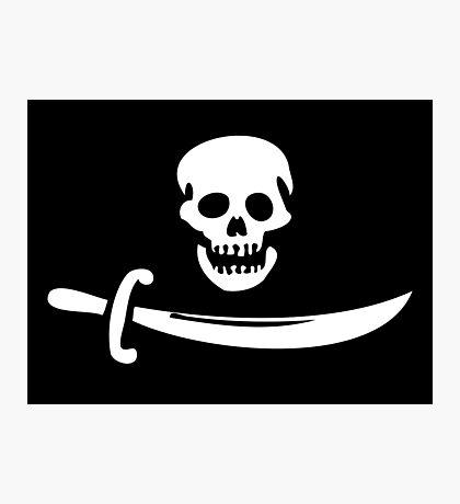 Black Bart Pirate Flag Photographic Print