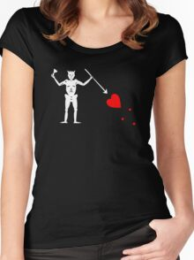 Edward Teach Pirate Flag Women's Fitted Scoop T-Shirt