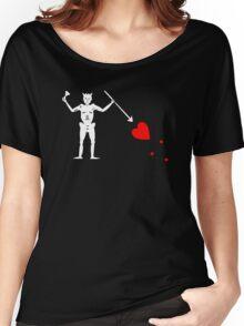 Edward Teach Pirate Flag Women's Relaxed Fit T-Shirt