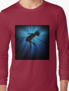 diving girl in flippers  Long Sleeve T-Shirt