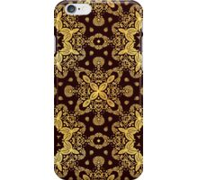 golden flowers on the brown background iPhone Case/Skin