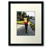 Taking a Walk Framed Print