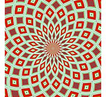 Red And Green Hallucinogenic Kaleidoscope Photographic Print