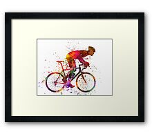 cyclist road bicycle Framed Print
