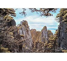 Twin Pinnacles in Infra Red  Photographic Print