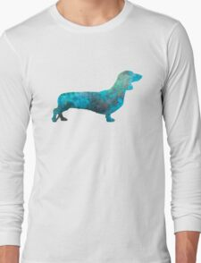 Female Dachsund in watercolor Long Sleeve T-Shirt