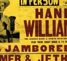 Hank Williams In Person Jamboree Sticker
